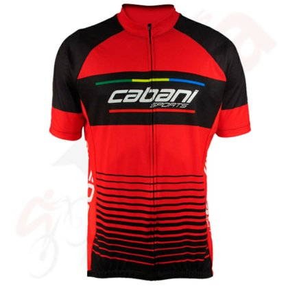 CAMISA CICLISTA CABANI RED BLACK (MANGA CURTA) M