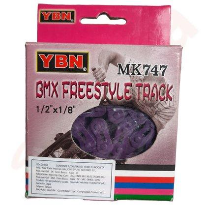 CORRENTE GROSSA ROXA 1/2X1/8X102 YBN MK747 BMX