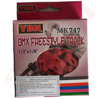 CORRENTE GROSSA VERMELHA 1/2X1/8X102 YBN MK747 BMX